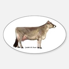 Brown Swiss Dairy Cow Sticker (Oval)