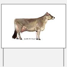 Brown Swiss Dairy Cow Yard Sign