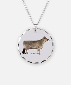 Brown Swiss Dairy Cow Necklace