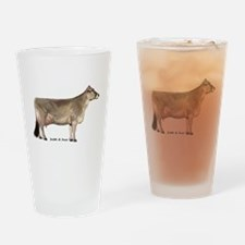 Brown Swiss Dairy Cow Drinking Glass