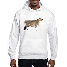 Brown Swiss Dairy Cow Hoodie