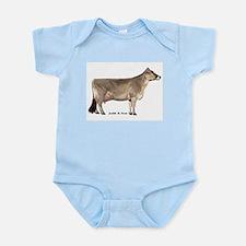 Brown Swiss Dairy Cow Infant Bodysuit