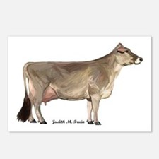 Brown Swiss Dairy Cow Postcards (Package of 8)