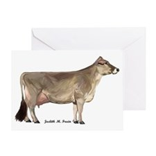 Brown Swiss Dairy Cow Greeting Card
