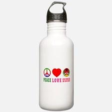 Peace Love Guinea Bissau Water Bottle