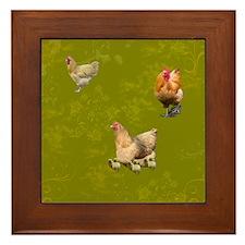 Buff Orpington Chicken Framed Tile