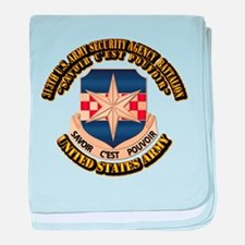 313th USA SAB w Text baby blanket