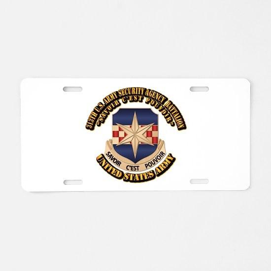 313th USA SAB w Text Aluminum License Plate