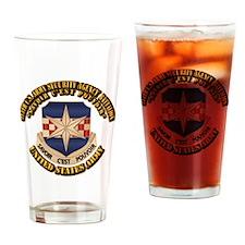 313th USA SAB w Text Drinking Glass