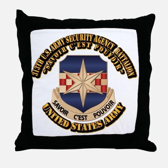 313th USA SAB w Text Throw Pillow
