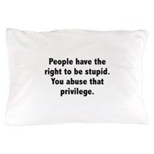 You Abuse That Privilege Pillow Case