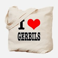 I Heart (Love) Gerbils Tote Bag