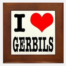 I Heart (Love) Gerbils Framed Tile
