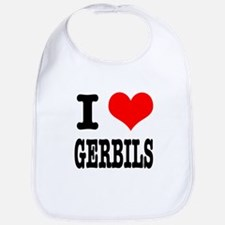 I Heart (Love) Gerbils Bib