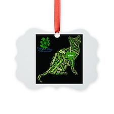 Cat Wordart Picture Ornament