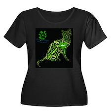 Cat Wordart Plus Size T-Shirt
