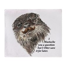 Mustache you a Question Otter save it Animal Humor