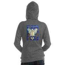 Blue & Gold Cancer Angel Hooded Sweatshirt
