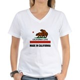 Made in california Womens V-Neck T-shirts