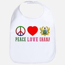 Peace Love Ghana Bib