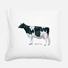 Holstein Cow Square Canvas Pillow