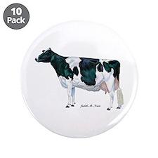 "Holstein Cow 3.5"" Button (10 pack)"