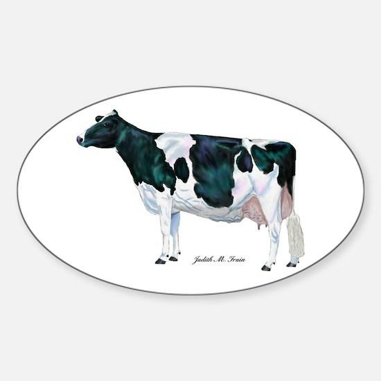 Holstein Cow Sticker (Oval)