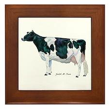 Holstein Cow Framed Tile