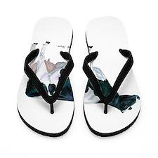 Holstein Cow Flip Flops
