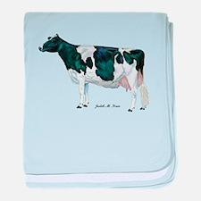 Holstein Cow baby blanket