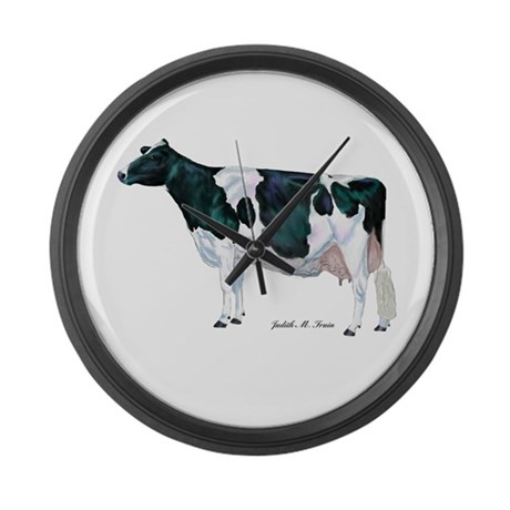 Holstein Cow Large Wall Clock