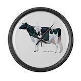 Dairy cow Wall Clocks