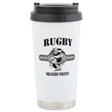 Rugby Organized Violence Travel Mug