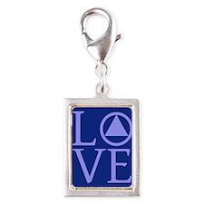 AA Love Silver Portrait Charm