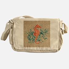 vintage french botanical seahorse de Messenger Bag