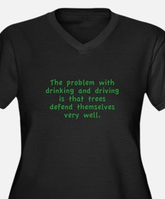 Drinking And Driving Women's Plus Size V-Neck Dark