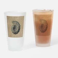 romantic seashell burlap beach art Drinking Glass