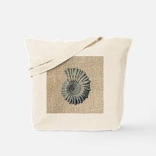 romantic seashell burlap beach art Tote Bag