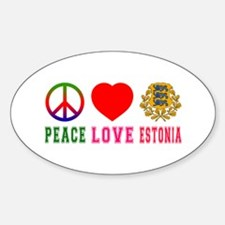 Peace Love Estonia Decal