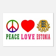 Peace Love Estonia Postcards (Package of 8)