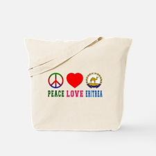 Peace Love Eritrea Tote Bag
