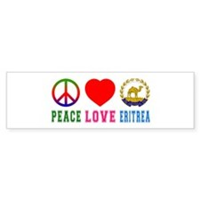 Peace Love Eritrea Bumper Sticker