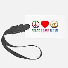 Peace Love Eritrea Luggage Tag