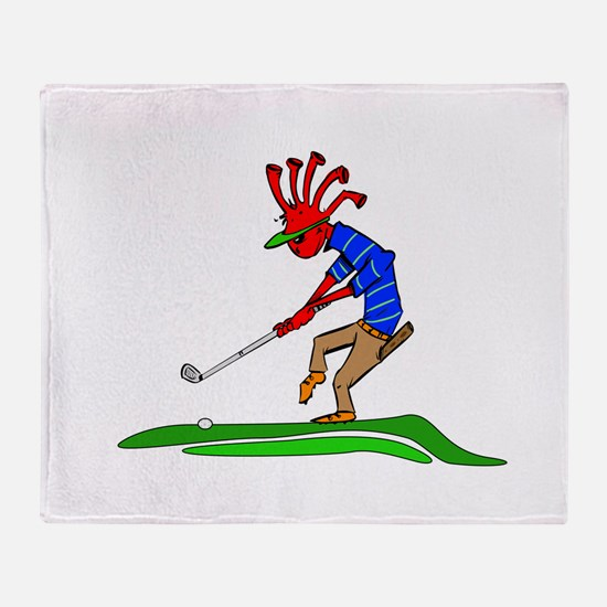 Kokopelli Golfer Throw Blanket