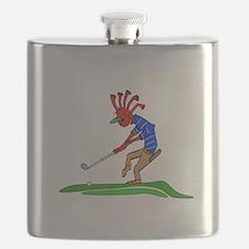Kokopelli Golfer Flask