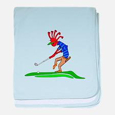 Kokopelli Golfer baby blanket