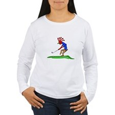 Kokopelli Golfer Long Sleeve T-Shirt