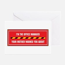 I'm the Office Manager Greeting Cards (Package of