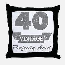 40th Birthday Vintage Throw Pillow