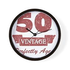50th Birthday Vintage Wall Clock